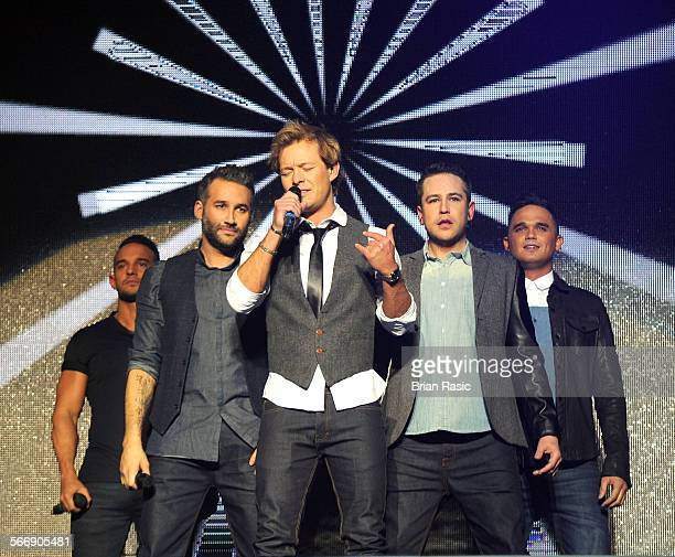Big Reunion Concert Hammersmith Apollo London Britain 21 Feb 2014 5Th Storey Kenzie Dane Bowers Adam Rickitt Kavana And Gareth Gates