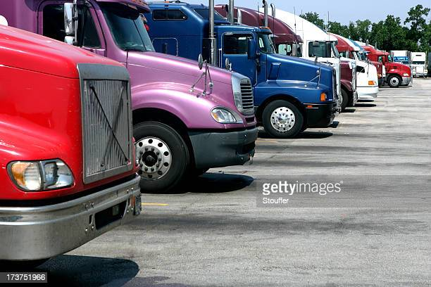 Big Rigs at Truck Stop
