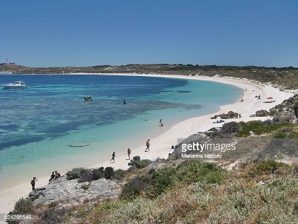 Big Salmon Bay on Rottnest Island in Western Australia Rottnest Island is located 18 km off the coast of Western Australia near Fremantle It is...