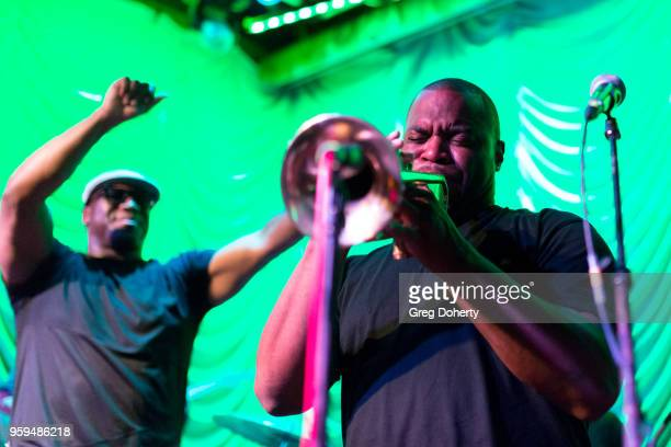 'Big Sam' Williams and Drew Baham perform at Big Sam's Funky Nation In Concert Hermosa Beach CA at Saint Rocke on May 16 2018 in Hermosa Beach...