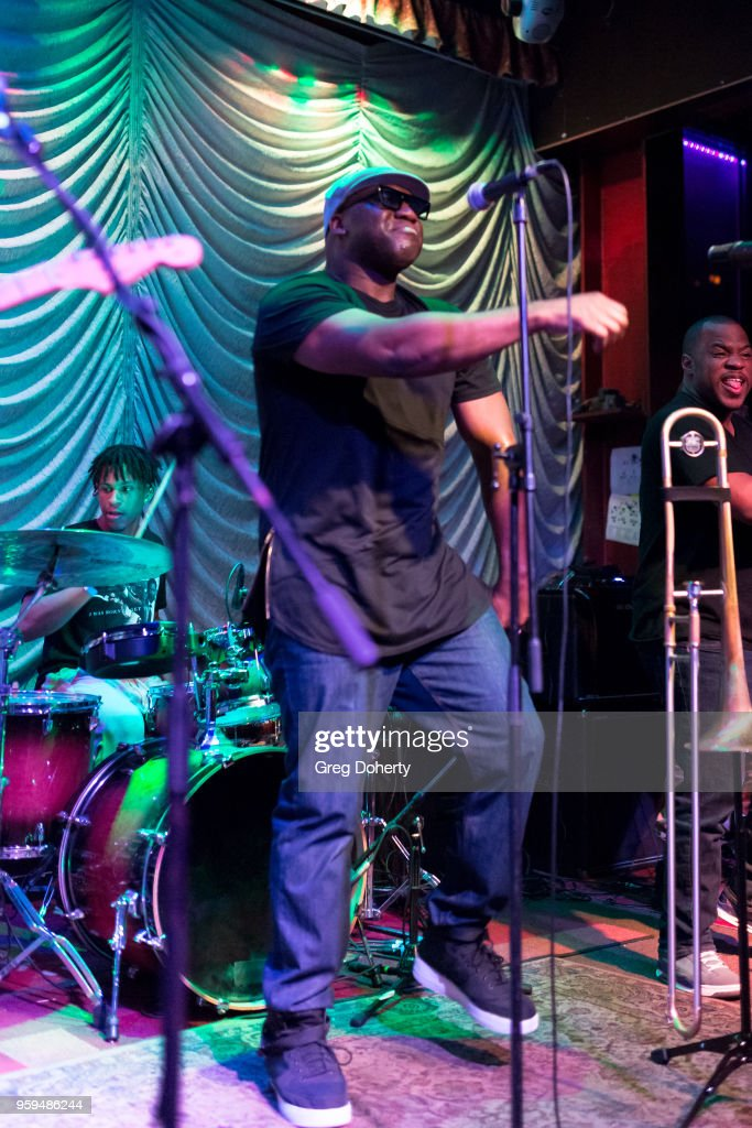 'Big Sam' Williams and Drew Baham perform at Big Sam's Funky Nation In Concert - Hermosa Beach, CA at Saint Rocke on May 16, 2018 in Hermosa Beach, California.