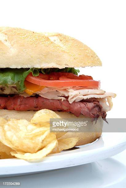 Big Sandwich with Chips on the side