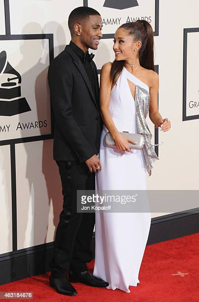 Big Sean and Ariana Grande arrive at the 57th GRAMMY Awards at Staples Center on February 8 2015 in Los Angeles California