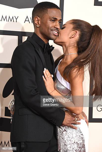 Big Sean and Ariana Grande arrives at the The 57th Annual GRAMMY Awards on February 8 2015 in Los Angeles California