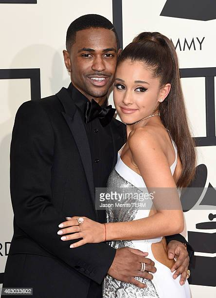 Big Sean and Ariana Grande attend The 57th Annual GRAMMY Awards at the STAPLES Center on February 8 2015 in Los Angeles California