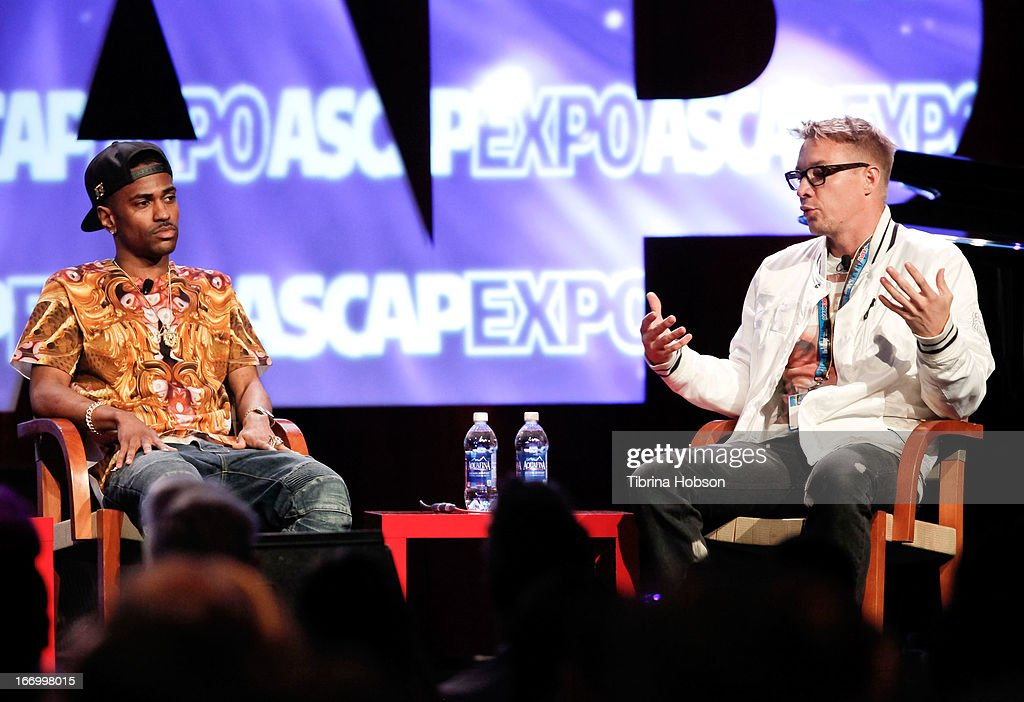 Big Sean and Diplo attend the 2013 ASCAP 'I Create Music' Expo at Loews Hollywood Hotel on April 18, 2013 in Hollywood, California.