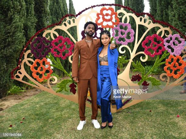 Big Sean and Jhené Aiko attend 2020 Roc Nation THE BRUNCH on January 25, 2020 in Los Angeles, California.