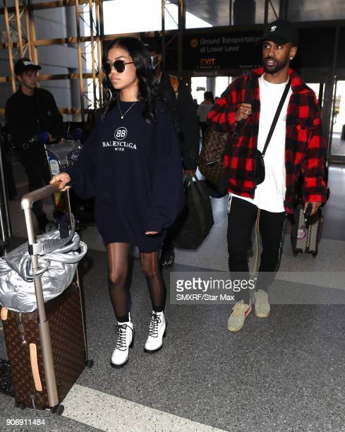 Big Sean and Jhene Aiko are seen on January 18 2018 in Los Angeles CA