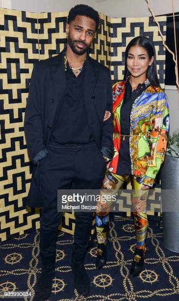 Big Sean and Jhene Aiko attend Jhene Aiko Surprise 30th Birthday Yacht Party on March 16 2018 in Marina del Rey California