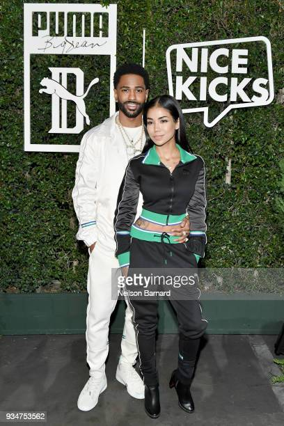 Big Sean and Jhene Aiko attend PUMA x Big Sean Collection Launch Event at Goya Studios on March 19 2018 in Los Angeles California