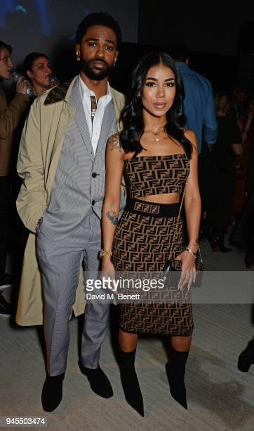 Big Sean and Jhene Aiko attend the FENDI FF Reloaded Experience on April 12 2018 in London England