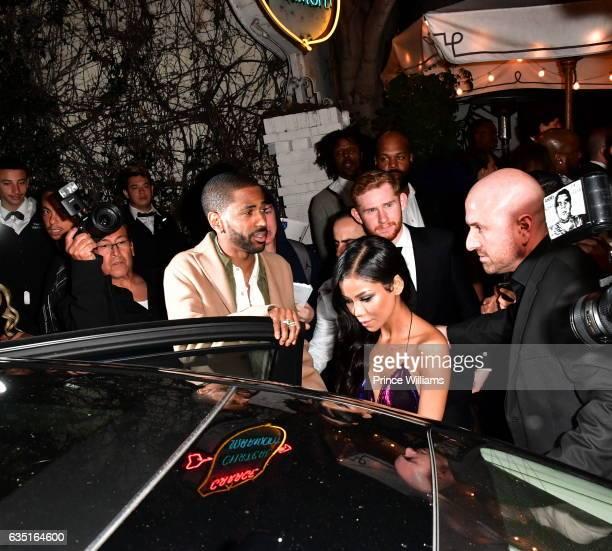 Big Sean and Jhene Aiko seen on February 12 2017 in Los Angeles California
