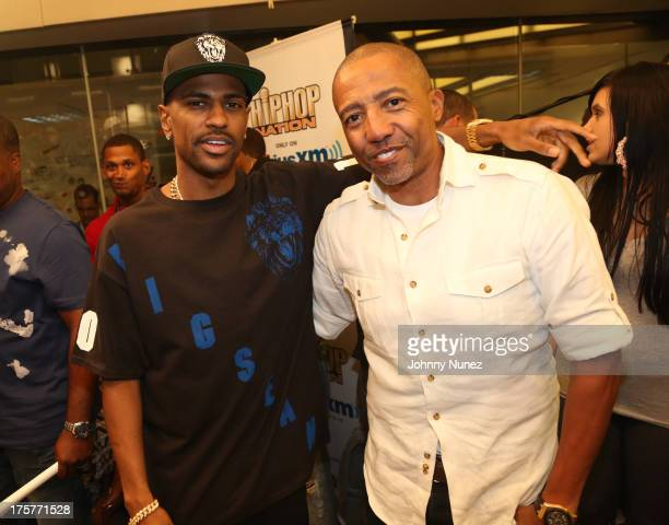 Big Sean and Kevin Liles attend Hip Hop Nation at SiriusXM Studios on August 7 2013 in New York City