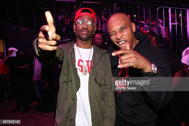 Big Sean and Kirk 'Sticky Fingaz' Jones attend Def Jam Recordings 30th Anniversary Concert at Barclays Center of Brooklyn on October 16 2014 in New...