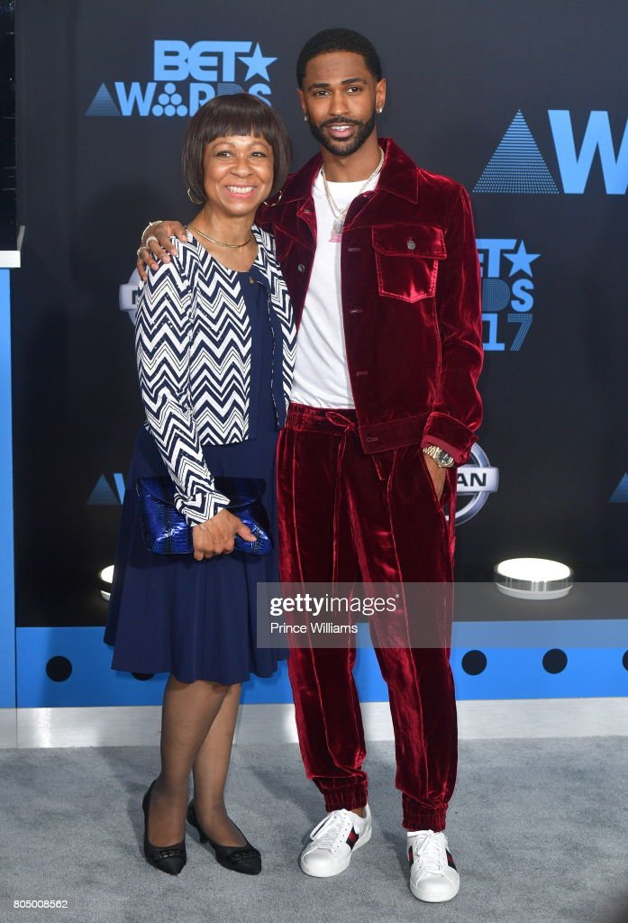 Big Sean (R) and Myra Anderson attend the 2017 BET Awards at Microsoft Theater on June 25, 2017 in Los Angeles, California.
