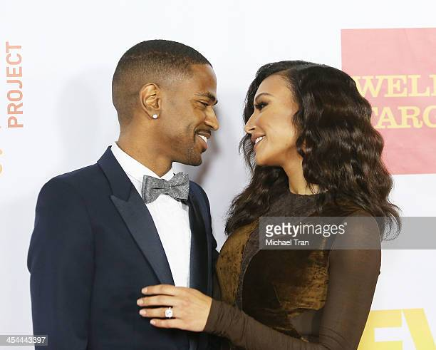 Big Sean and Naya Rivera arrive at the 15th Annual Trevor Project Benefit held at Hollywood Palladium on December 8 2013 in Hollywood California