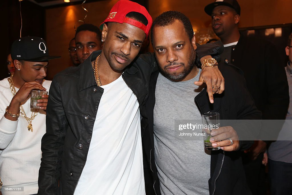 Big Sean and No I.D attend Remy Martin V Celebrates Big Sean's 25th Birthday Dinner at Wolfgang's Steakhouse on March 25, 2013 in Beverly Hills, California.