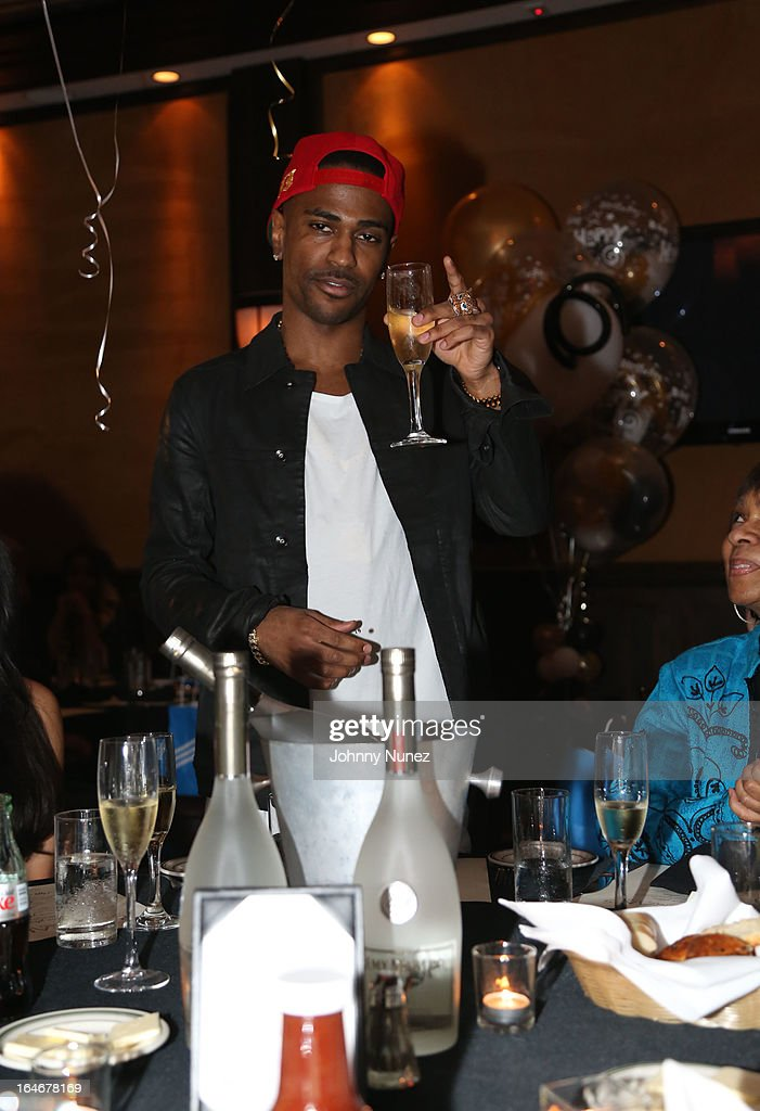 Big Sean attends Remy Martin V Celebrates Big Sean's 25th Birthday Dinner at Wolfgang's Steakhouse on March 25, 2013 in Beverly Hills, California.