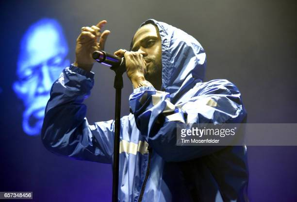 """Big Sean performs during his """"Decided"""" tour at The Masonic Auditorium on March 23, 2017 in San Francisco, California."""