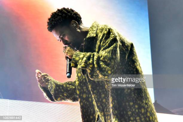 Big Sean performs during the 2018 Our Music Festival at the Greek Theatre on October 20 2018 in Berkeley California