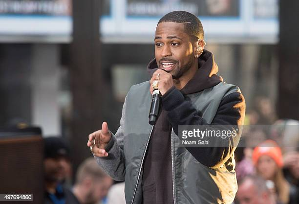 "Big Sean performs on NBC's ""Today"" at NBC's TODAY Show on November 18, 2015 in New York."