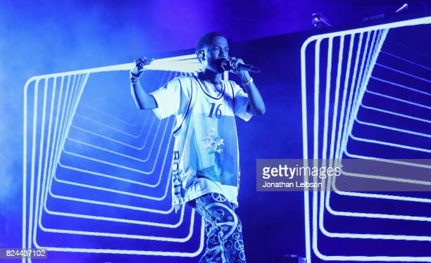 Big Sean performs onstage at Pandora Sounds Like You Summer at Los Angeles Memorial Coliseum on July 29 2017 in Los Angeles California