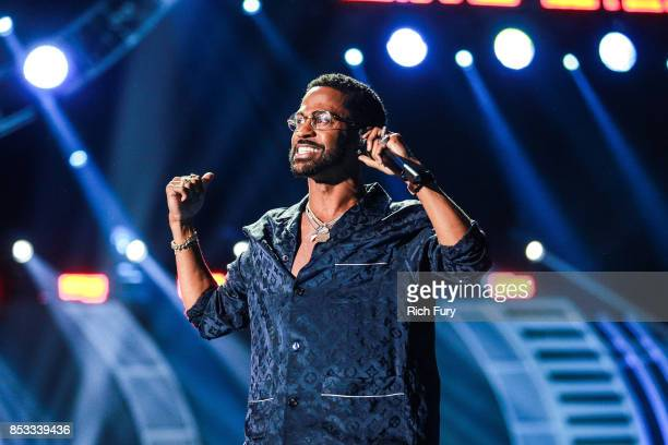 Big Sean performs onstage during the iHeartRadio Music Festival at TMobile Arena on September 23 2017 in Las Vegas Nevada