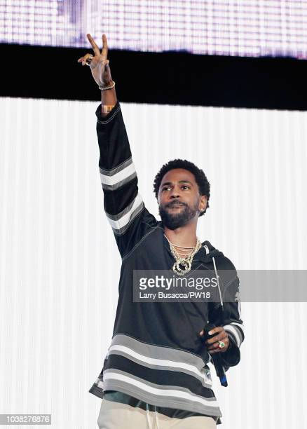 Big Sean performs onstage during the 'On The Run II' Tour at Rose Bowl on September 22 2018 in Pasadena California