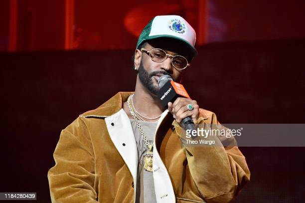 Big Sean speaks onstage before a performance in Harlem at The Apollo Theater presented by iHeartRadio LIVE and Verizon on October 29, 2019 in New...