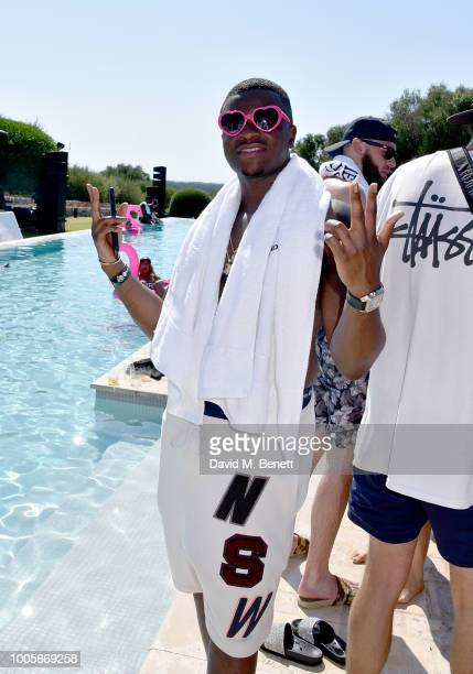 Big Shaq attends as Spotify Premium throws the ultimate party in Spain for Stormzy's 25th birthday on July 26 2018 in Menorca Spain