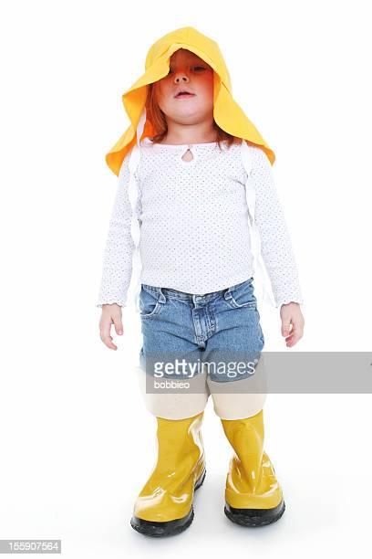 Big Shoe Children: Little girl in rain wear