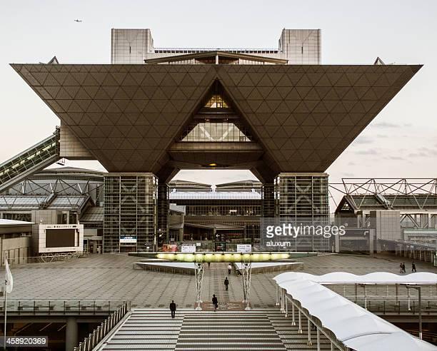 big sight building odaiba tokyo japan - tokyo big sight stock photos and pictures