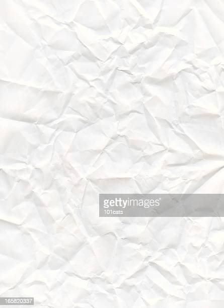 big size crumpled white paper