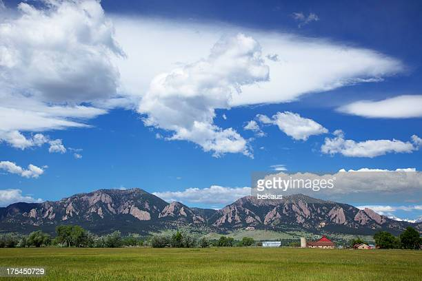 Big Sky and Clouds over Boulder Colorado Farm