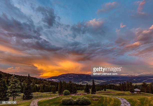 big sky ez, montana - moody sky stock pictures, royalty-free photos & images