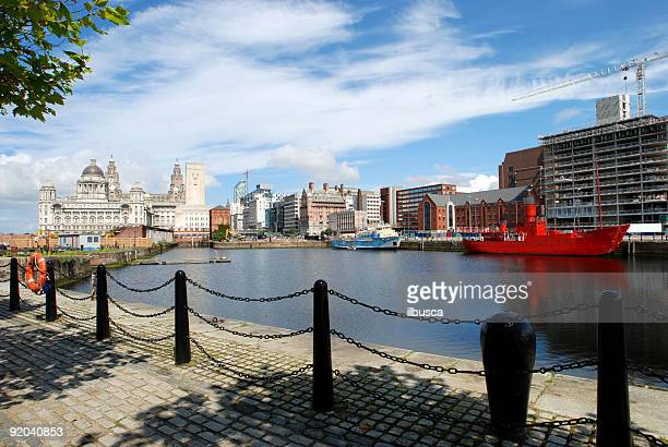 Big sky over wide angle Liver Building in Liverpool 2