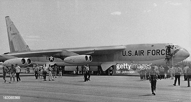SEP 11 1965 SEP 12 1965 Big sleek B52 jet bomber attracts a long line of visitors at Lowry Air Force Base é«probably because planes like these are in...