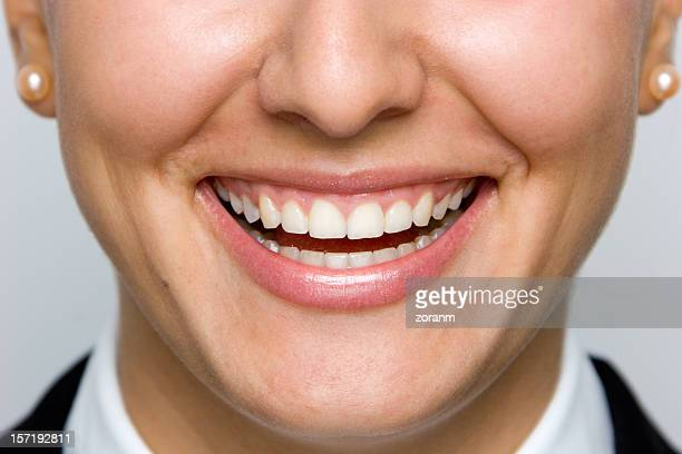 big smile - human gums stock photos and pictures