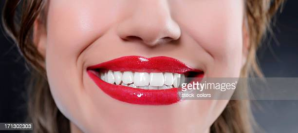 big smile - big lips stock photos and pictures