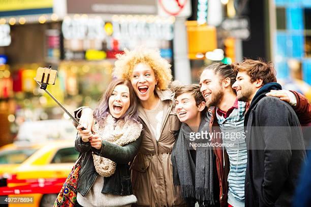 な笑顔を New York の自分撮り