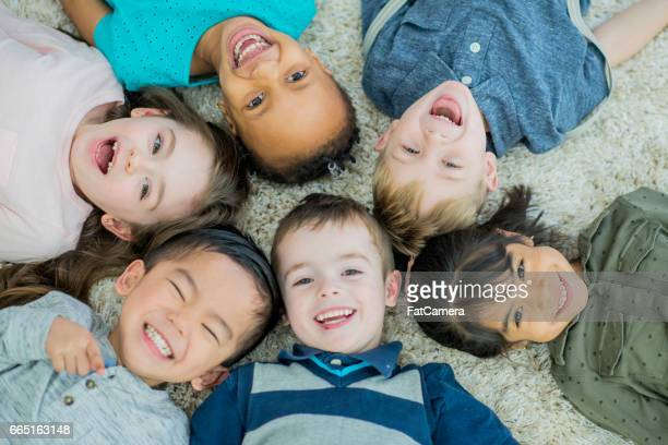 big smiles - preschool age stock pictures, royalty-free photos & images