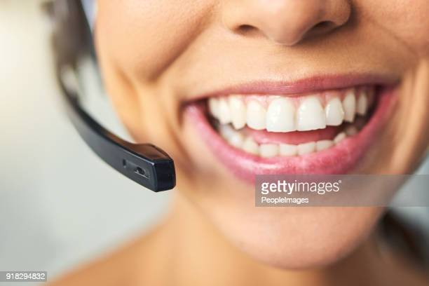 Big smiles when helping the customer