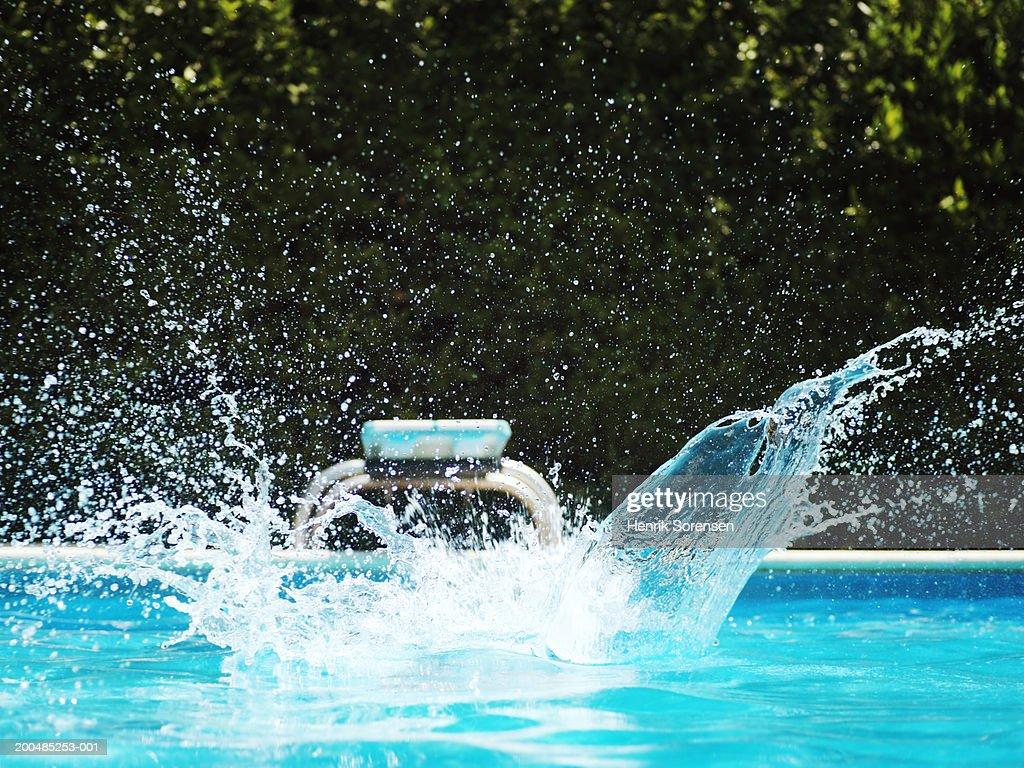 pool splash. Big Splash In Swimming Pool : Stock Photo O