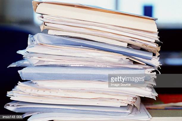 Big stack of assorted papers
