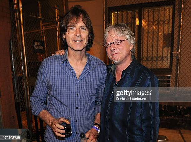 Big Star drummer Jody Stephens and Mike Mills the bass player for REM attend the John Varvatos' celebration of 'Big Star Nothing Can Hurt Me' film...