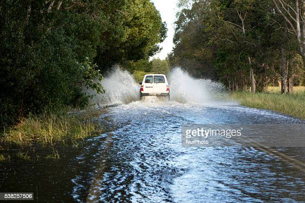 A big storm heat the north coast of the New South Wales where rivers flooded and the water level reached more than 50cm of high in Byron Bay...