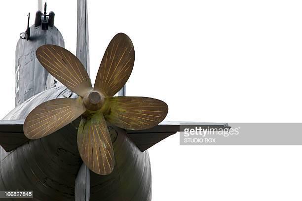 Big submarine propeller