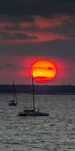 Big Sun over Fannie Bay, NT