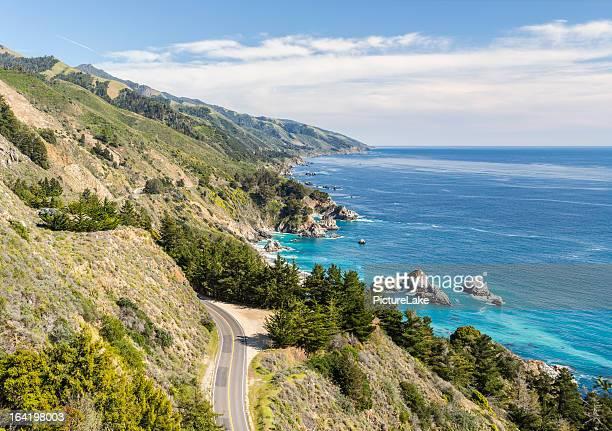 Big Sur, California, coastline from above