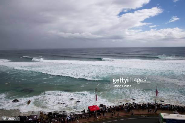 Big surf created by Cyclone Linda extraordinary conditions at Kirra on the Gold Coast of Australia for the final day of the the Quiksilver Pro Gold...